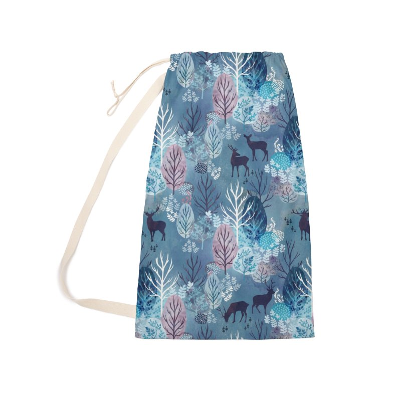Steel blue forest deer Accessories Bag by AdenaJ