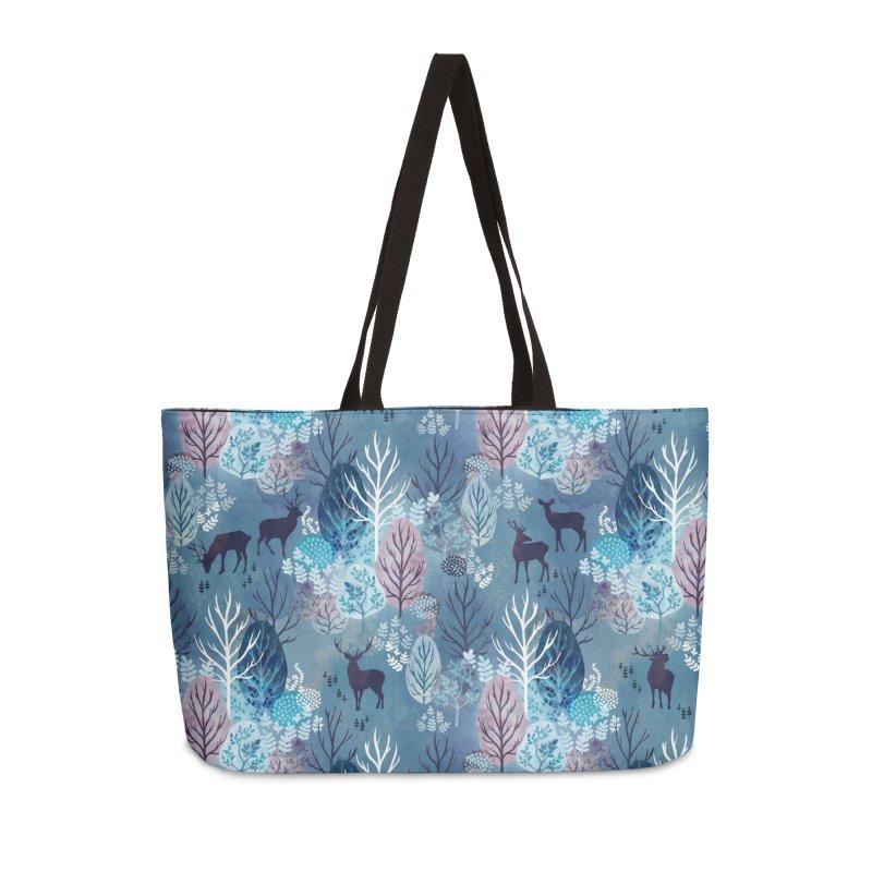 Steel blue forest deer Accessories Weekender Bag Bag by AdenaJ