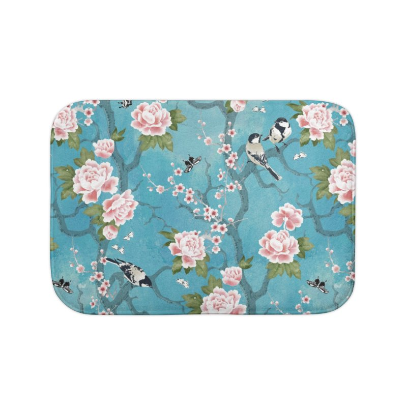 Chinoiserie birds Home Bath Mat by AdenaJ