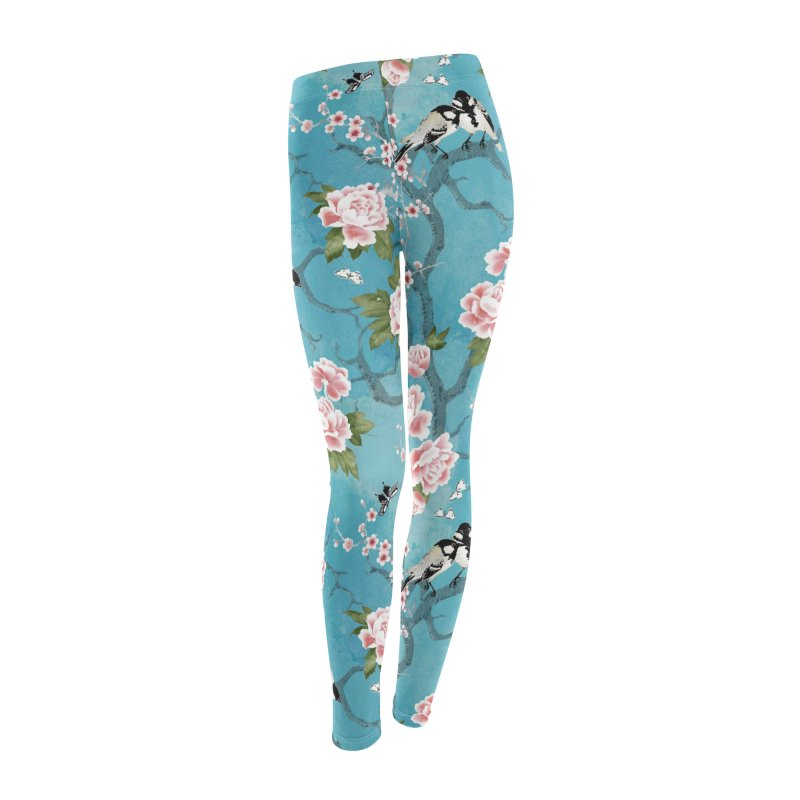 Chinoiserie birds Women's Leggings Bottoms by AdenaJ