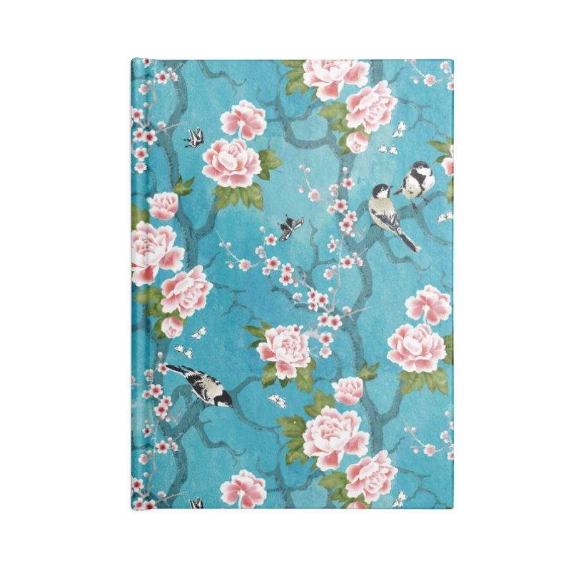 Chinoiserie birds Accessories Lined Journal Notebook by AdenaJ