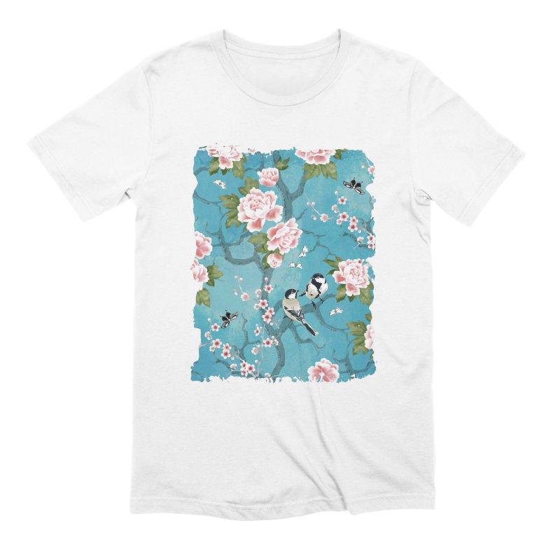 Chinoiserie birds Men's Extra Soft T-Shirt by AdenaJ