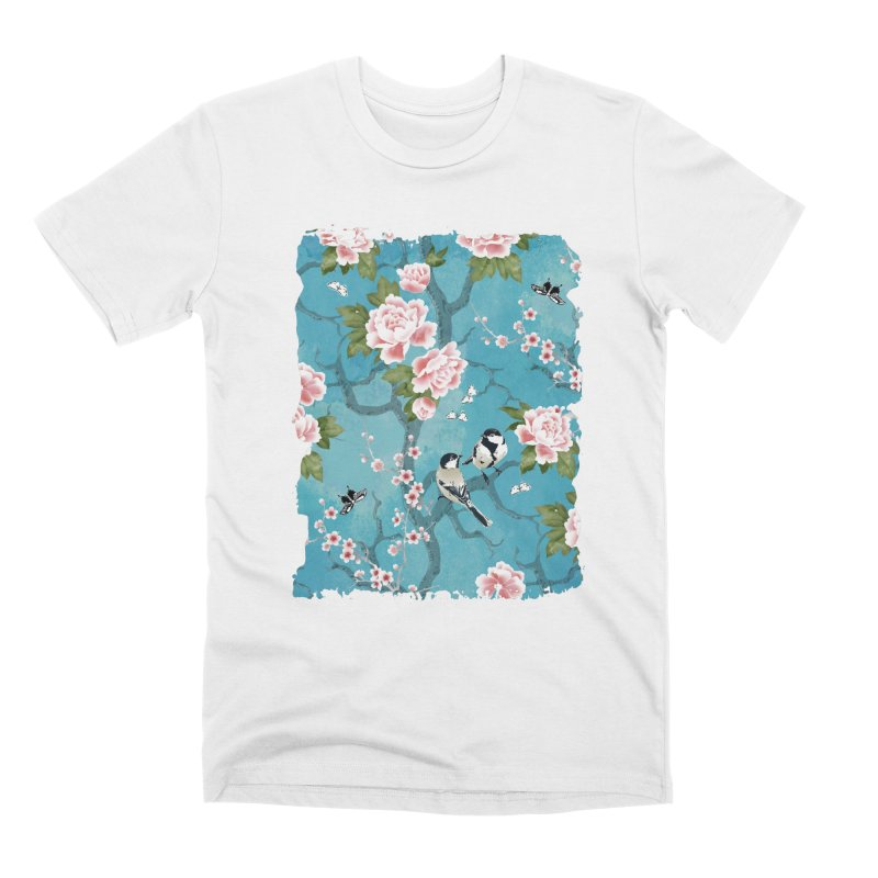 Chinoiserie birds Men's Premium T-Shirt by AdenaJ