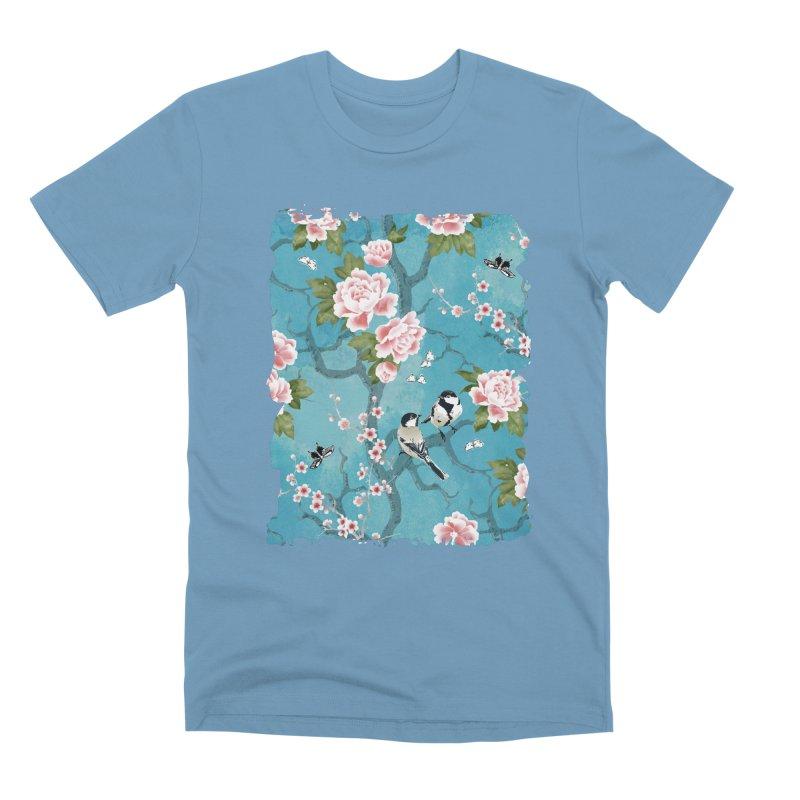 Chinoiserie birds Men's Premium T-Shirt by AdenaJ