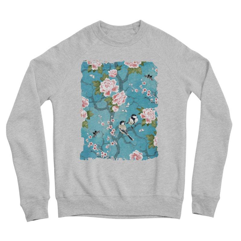 Chinoiserie birds Women's Sponge Fleece Sweatshirt by AdenaJ