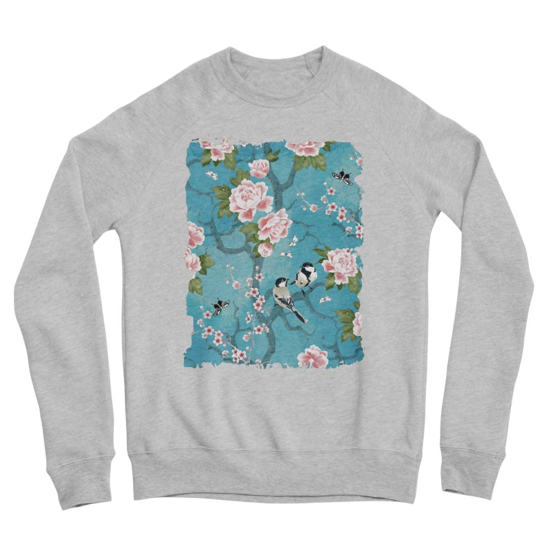 Chinoiserie birds Men's Sponge Fleece Sweatshirt by AdenaJ