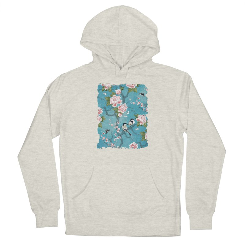Chinoiserie birds Women's French Terry Pullover Hoody by AdenaJ