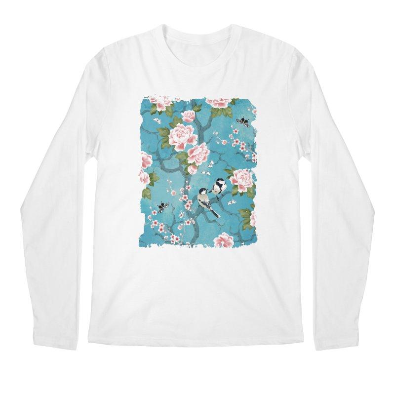 Chinoiserie birds Men's Regular Longsleeve T-Shirt by AdenaJ