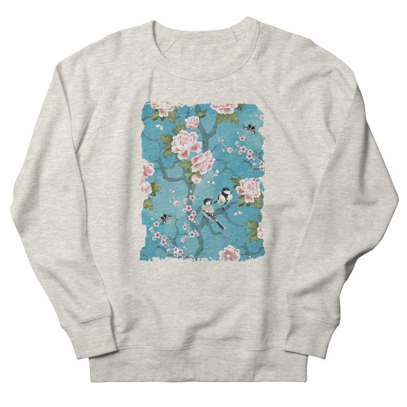 Chinoiserie birds Women's French Terry Sweatshirt by AdenaJ
