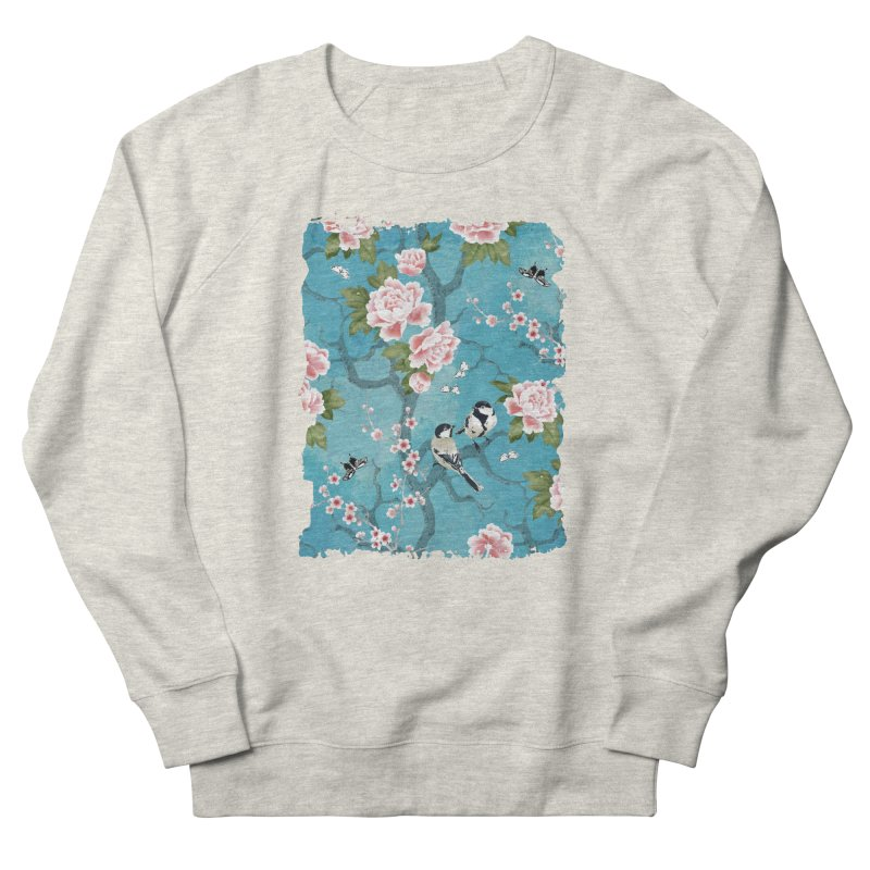 Chinoiserie birds Men's French Terry Sweatshirt by AdenaJ