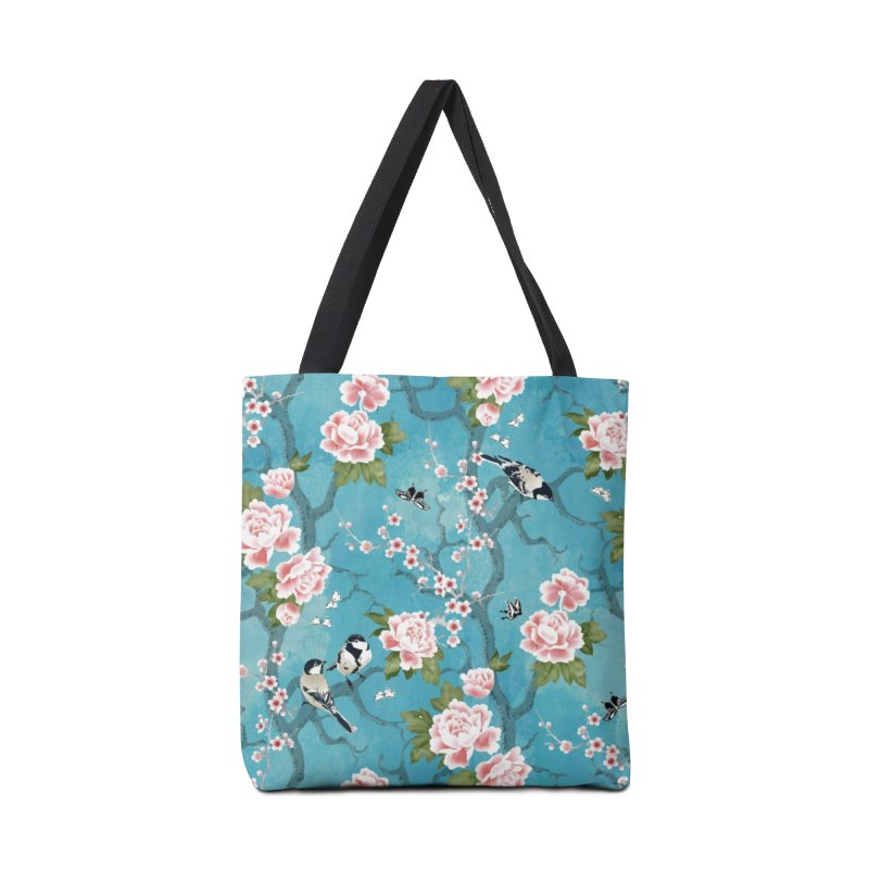 Chinoiserie birds Accessories Tote Bag Bag by AdenaJ