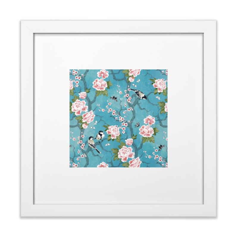 Chinoiserie birds Home Framed Fine Art Print by AdenaJ
