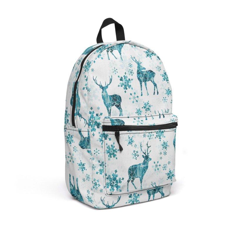Snow deer Accessories Backpack Bag by AdenaJ