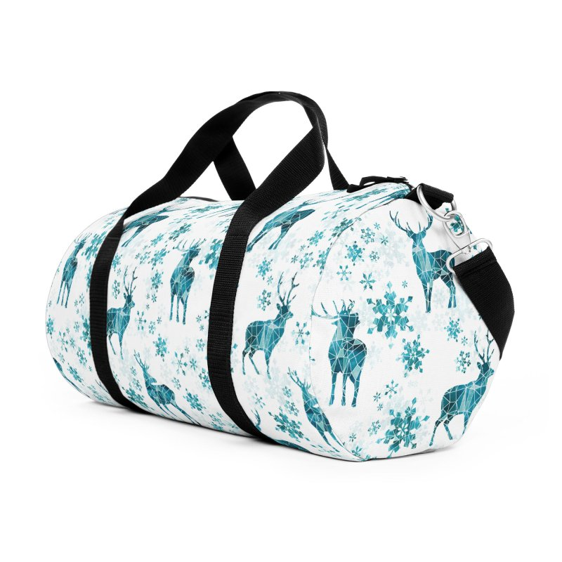 Snow deer Accessories Duffel Bag Bag by AdenaJ