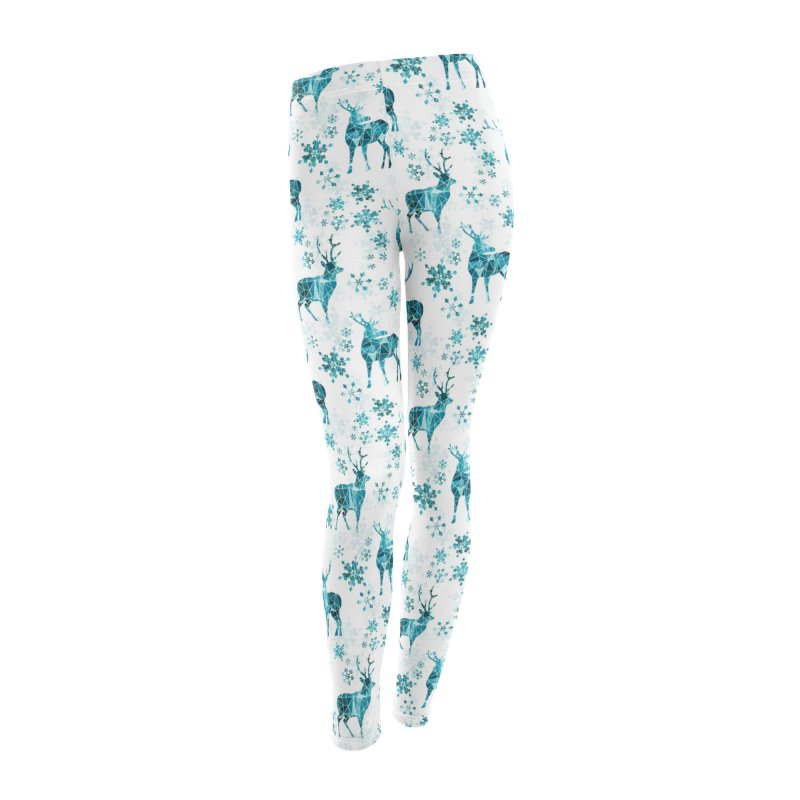 Snow deer Women's Leggings Bottoms by AdenaJ