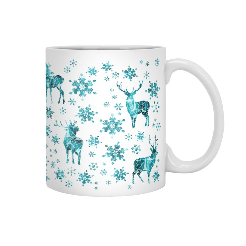 Snow deer Accessories Mug by AdenaJ