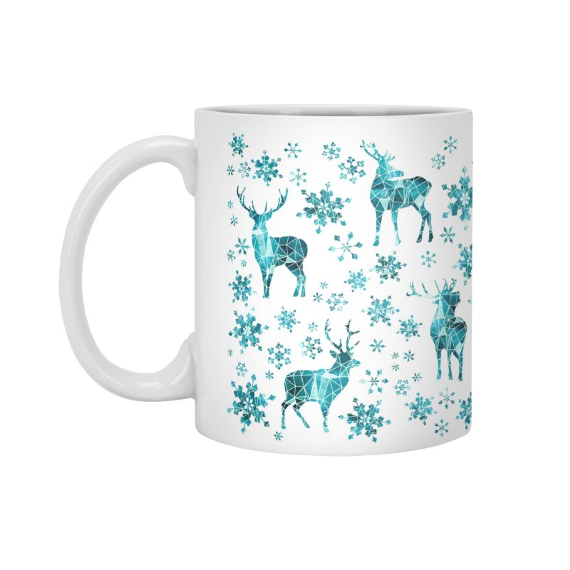 Snow deer in Standard Mug White by AdenaJ