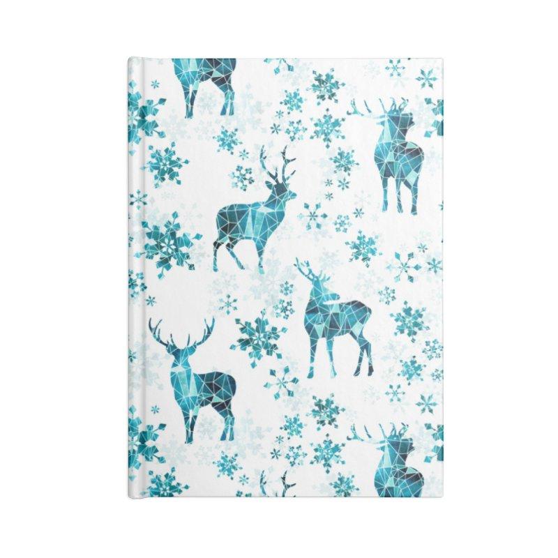Snow deer Accessories Lined Journal Notebook by AdenaJ