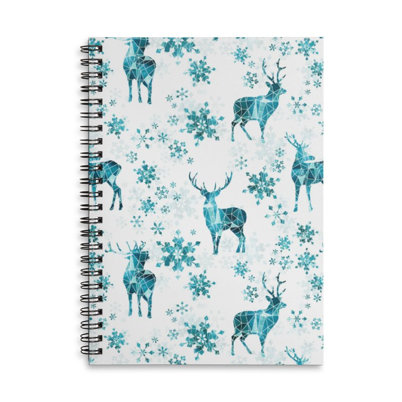 Snow deer Accessories Lined Spiral Notebook by AdenaJ