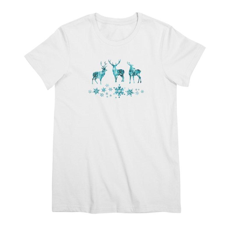 Snow deer Women's Premium T-Shirt by AdenaJ