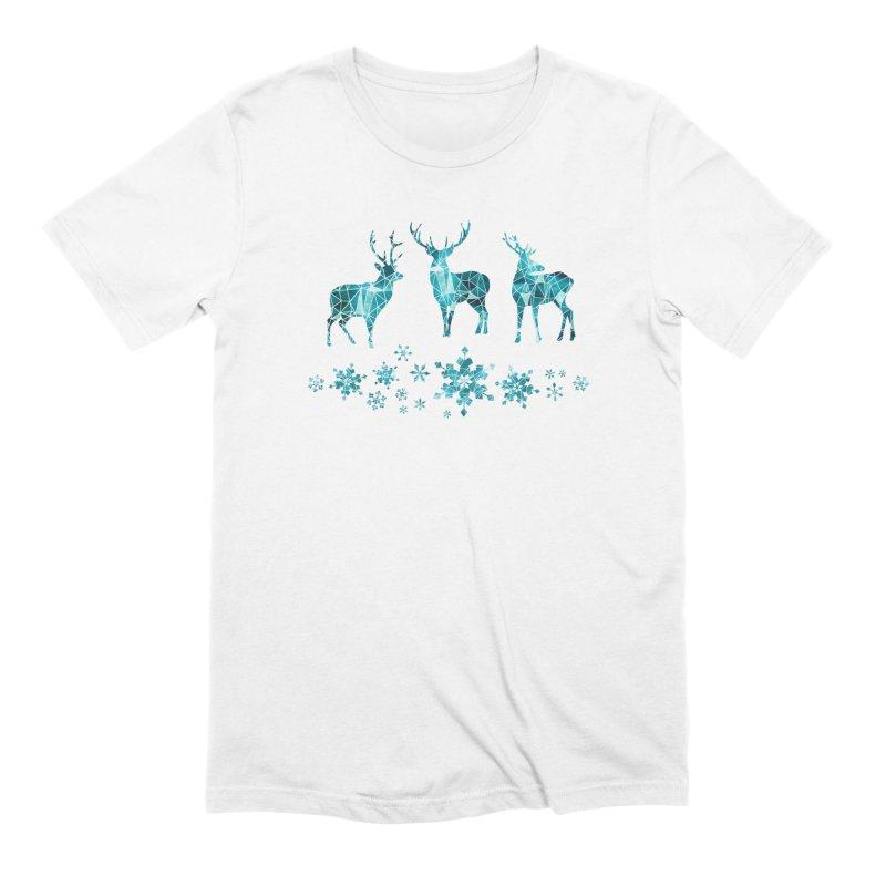 Snow deer Men's Extra Soft T-Shirt by AdenaJ