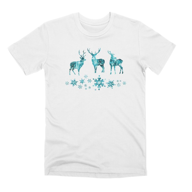Snow deer Men's Premium T-Shirt by AdenaJ