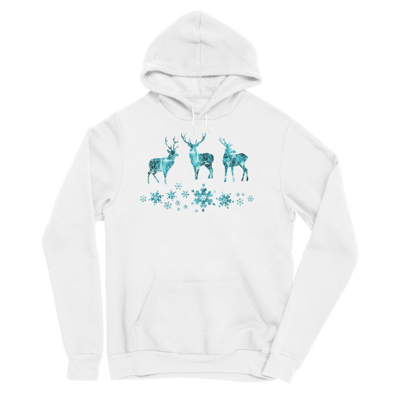 Snow deer Women's Sponge Fleece Pullover Hoody by AdenaJ
