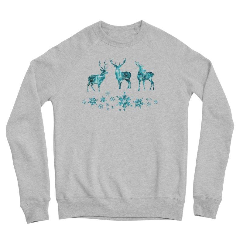 Snow deer Men's Sponge Fleece Sweatshirt by AdenaJ