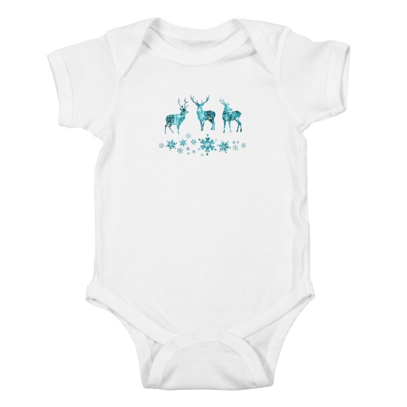 Snow deer Kids Baby Bodysuit by AdenaJ