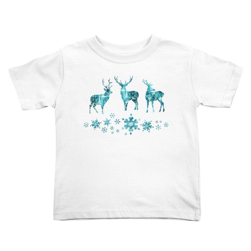 Snow deer Kids Toddler T-Shirt by AdenaJ