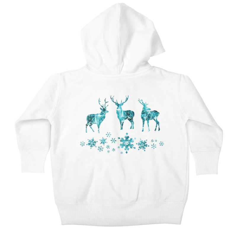 Snow deer Kids Baby Zip-Up Hoody by AdenaJ