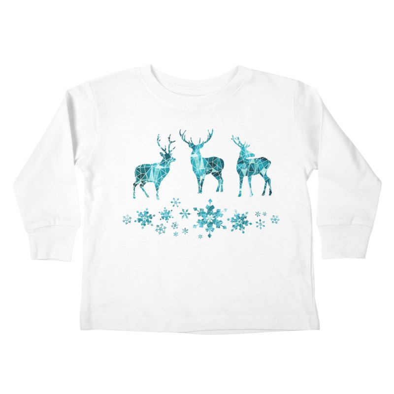 Snow deer Kids Toddler Longsleeve T-Shirt by AdenaJ