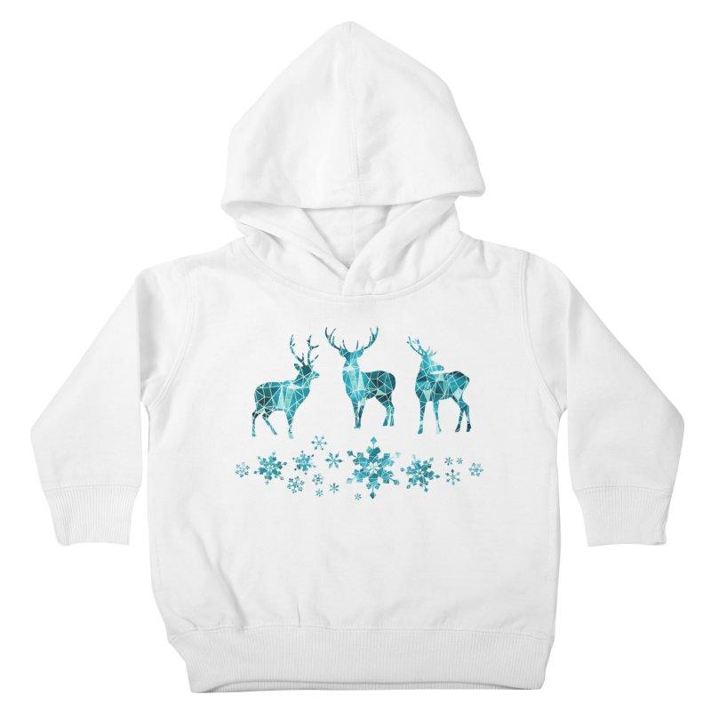 Snow deer Kids Toddler Pullover Hoody by AdenaJ