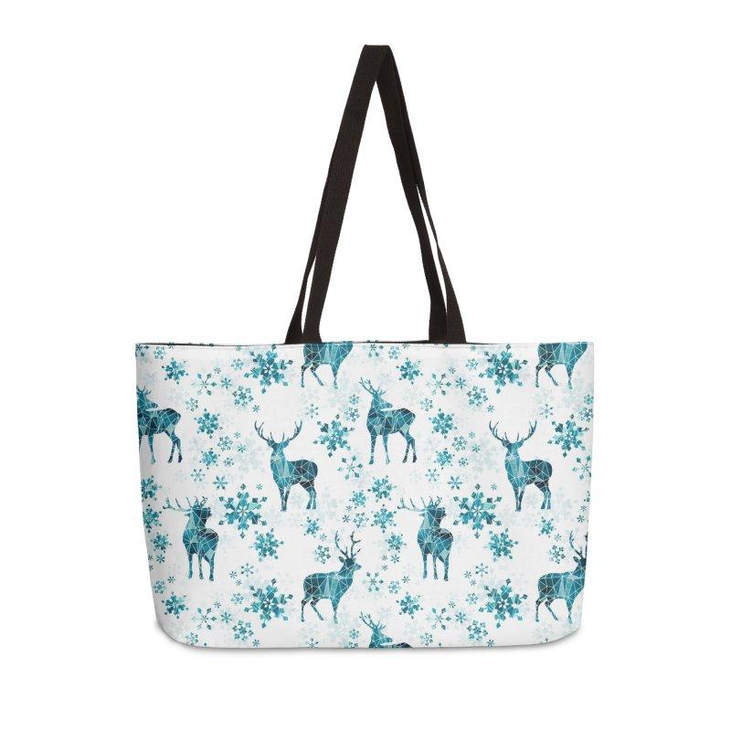Snow deer Accessories Weekender Bag Bag by AdenaJ