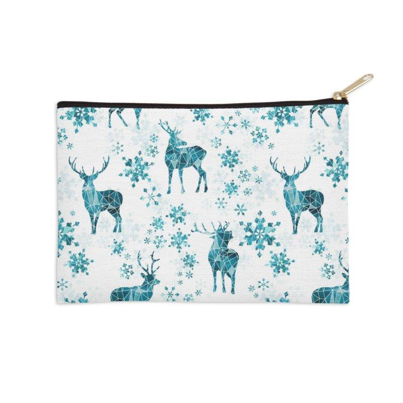 Snow deer Accessories Zip Pouch by AdenaJ