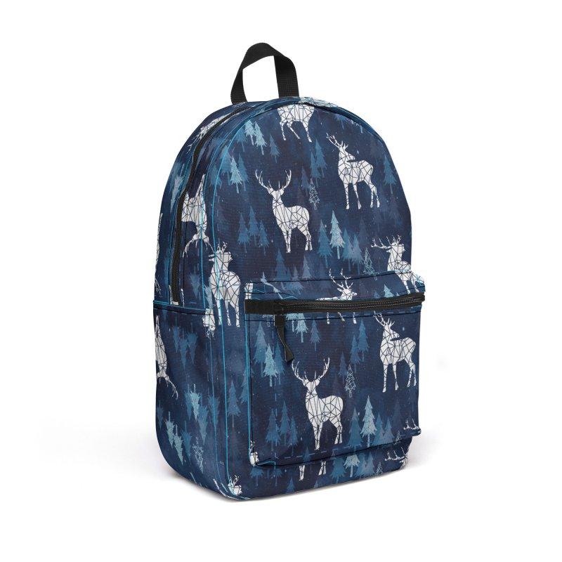 Snow deer navy blue Accessories Backpack Bag by AdenaJ