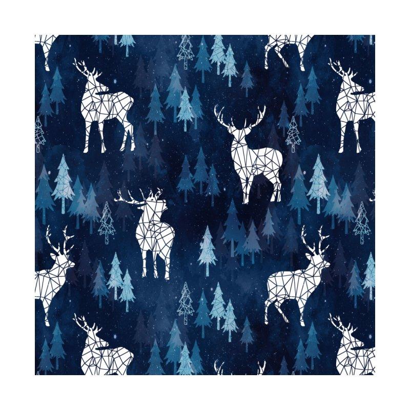 Snow deer navy blue Accessories Mug by AdenaJ