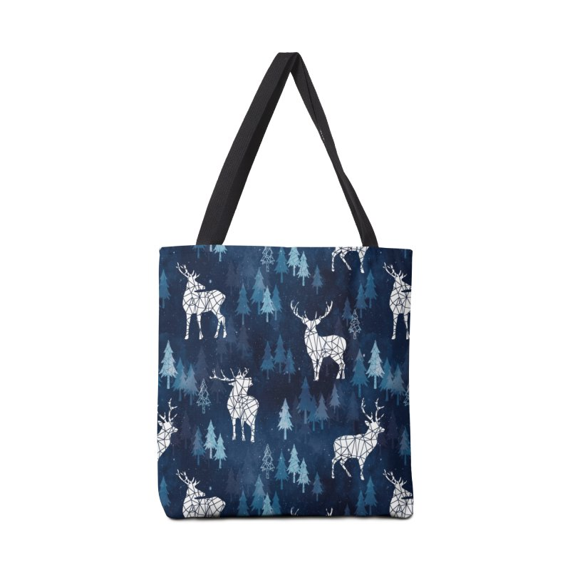 Snow deer navy blue Accessories Tote Bag Bag by AdenaJ