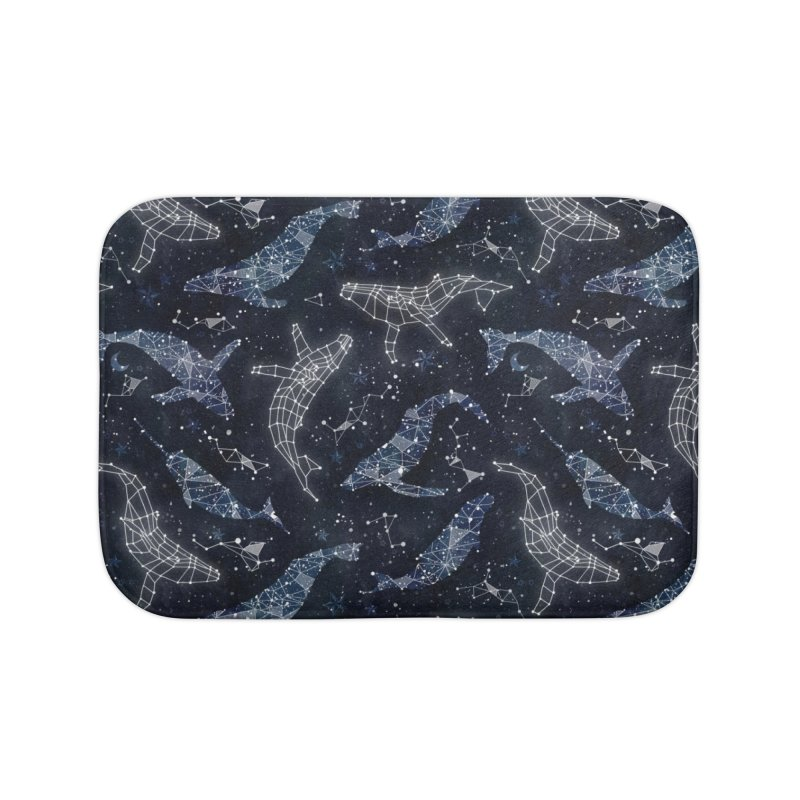 Whale constellations Home Bath Mat by AdenaJ