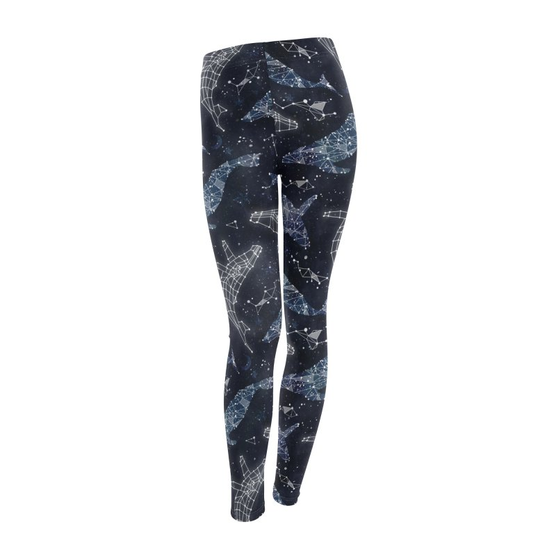 Whale constellations Women's Leggings Bottoms by AdenaJ