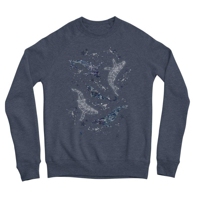 Whale constellations Women's Sponge Fleece Sweatshirt by AdenaJ