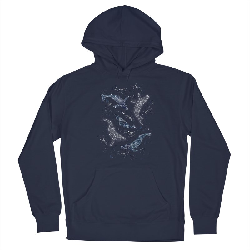 Whale constellations Women's French Terry Pullover Hoody by AdenaJ