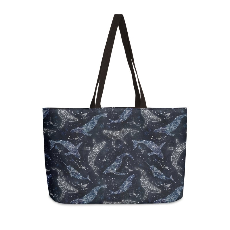 Whale constellations Accessories Weekender Bag Bag by AdenaJ