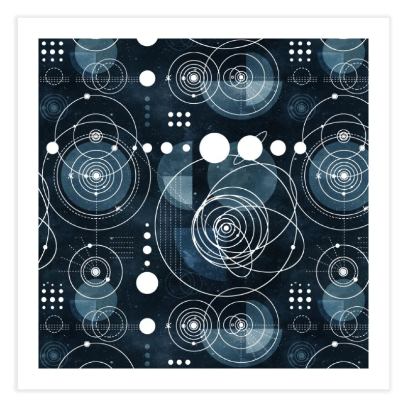 Bauhaus galaxy Home Fine Art Print by AdenaJ