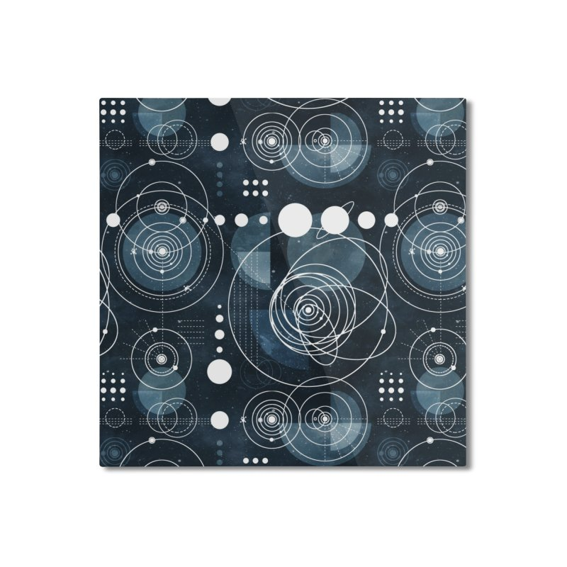 Bauhaus galaxy Home Mounted Aluminum Print by AdenaJ