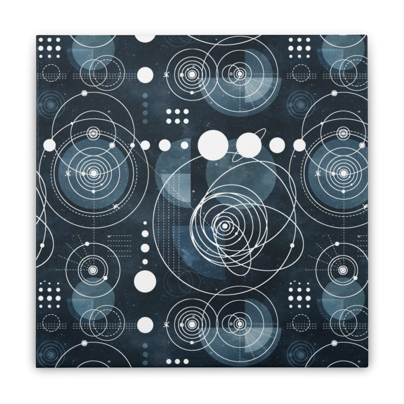 Bauhaus galaxy Home Stretched Canvas by AdenaJ