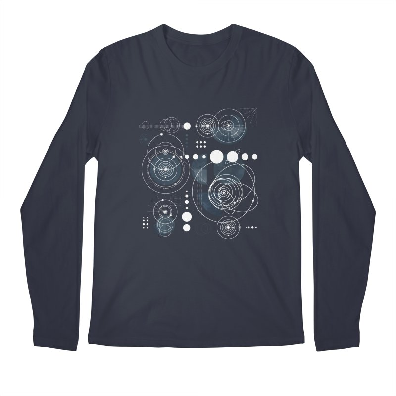 Bauhaus galaxy Men's Regular Longsleeve T-Shirt by AdenaJ