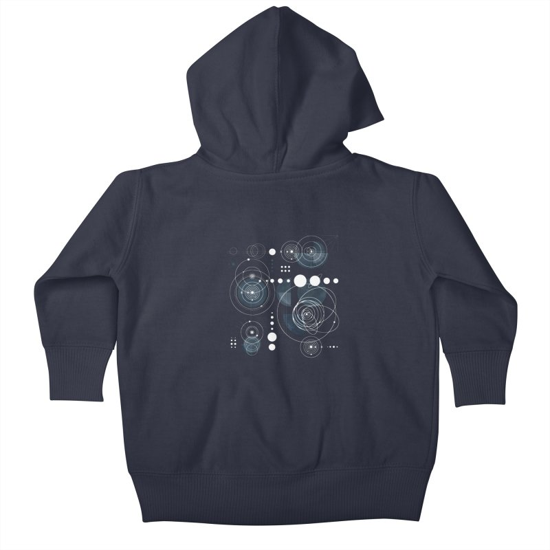Bauhaus galaxy Kids Baby Zip-Up Hoody by AdenaJ