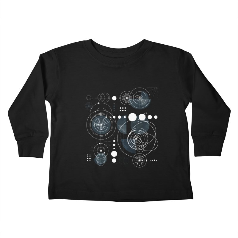 Bauhaus galaxy Kids Toddler Longsleeve T-Shirt by AdenaJ