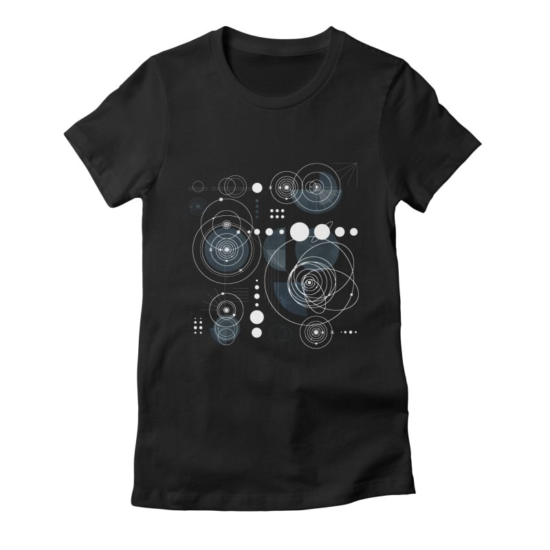 Bauhaus galaxy Women's Fitted T-Shirt by AdenaJ